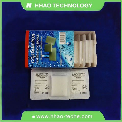 Absorbing gelatin hemostatic collagen sponge