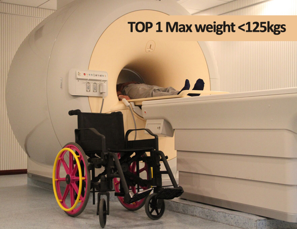 Non-magnetic wheelchair /MRI wheelchair/ for1.5T and 3.0T MR equipment