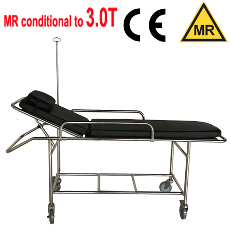 Non-magnetic stretcher 3T fixed height / MR conditional up to 3.0T