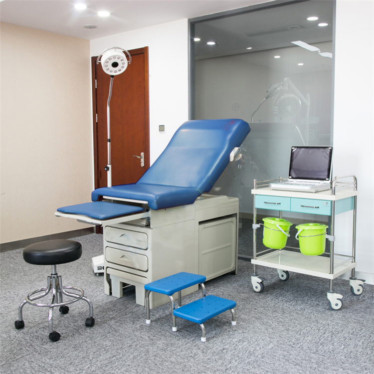Midmark type exam table for gynecological examination